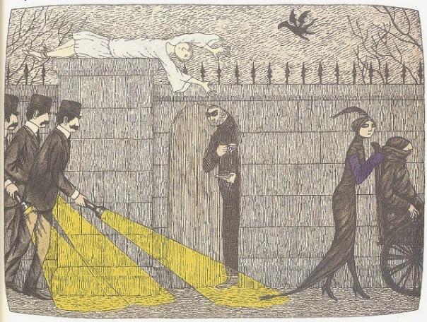 Edward Gorey Mystery Poster Detail