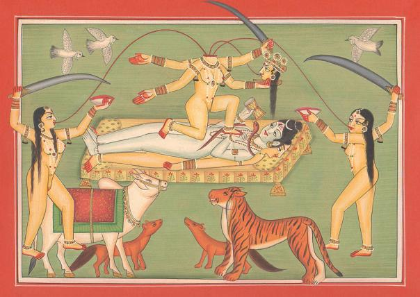 god-shiva-shankar-goddess-kali-tantric-artwork-miniature-painting-hindu-art-gallery-a-k-mundhra